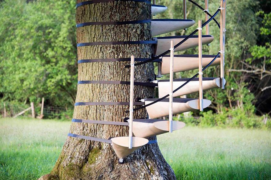 Një shkallë që mund ta vendosësh në çdo pemë