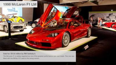 10 Makinat më të Shtrenjta të shitura në Ankandin e Pebble Beach