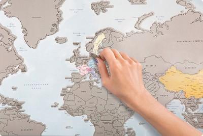 Një hartë gërvishtëse për të ngjyrosur udhëtimet tuaja