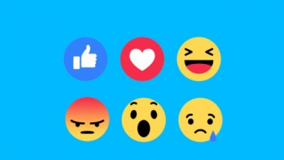 Facebook në Like shton edhe emocionet si Love, Haha, Wow, Sad dhe Angry