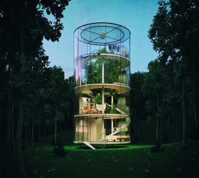 Një shtëpi prej xhami në mes të një… pylli!