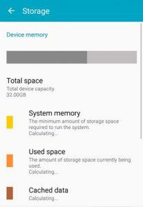 memoriea e samsung S6