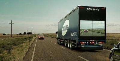 Kamioni i Samsung ju shfaq udhëtarëve rrugën që kanë përpara