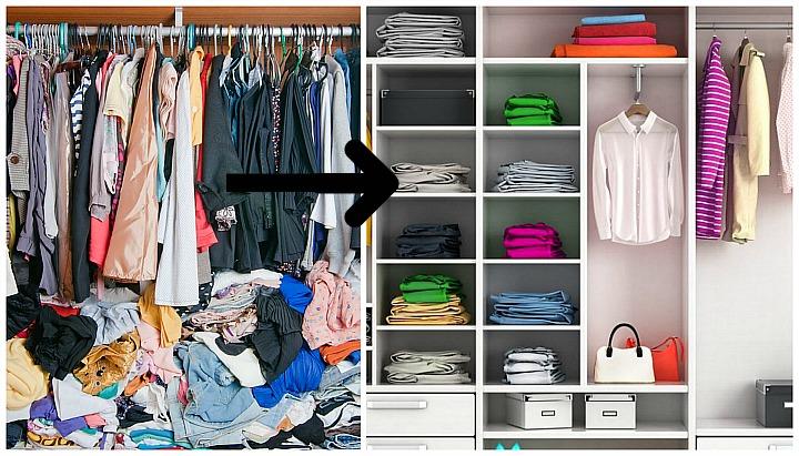 Ja si të organizoni dollapin tuaj pa shpenzuar shumë kohë